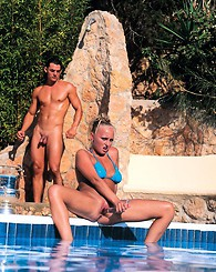 Sex fun by the pool with...