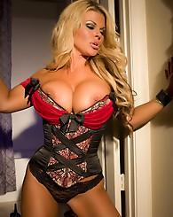 Buxom blonde, Sophia Rossi,...