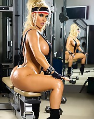 Coco gets hot and sweaty in...