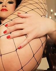 Tammy's tight fishnets...